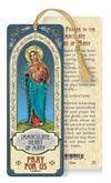 Immaculate Heart of Mary Laminated Gold Foil Bookmark, 10-Pack, # 7096