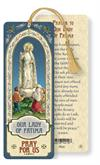 Our Lady of Fatima Laminated Gold Foil Bookmark, 10-Pack, # 7101