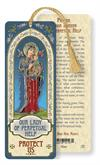 Our Lady of Perpetual Help Laminated Gold Foil Bookmark, 10-Pack, # 7104