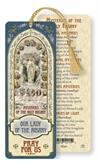 Our Lady of the Rosary Mysteries Laminated Gold Foil Bookmark, 10-Pack, # 7105