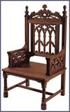 Canterbury Celebrant Chair, Walnut Finish, # 7237