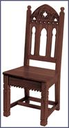 Gothic Side Chair, Walnut Finish, # 7238