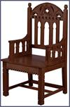 Gothic Celebrant Chair - Walnut Stain, # 7256