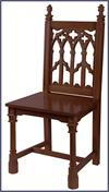 Canterbury Side Chair - Walnut Stain, # 7257