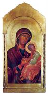 Madonna & Child Florentine plaque, 21 x 45
