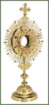 Ornate Monstrance with Case, # 7471