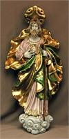 Saint Jude wall plaque in fully hand painted and hand crafted ceramic, 21