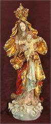 O.L. Queen of Peace with Child and Crown, hand-painted and hand-crafted ceramic, 38