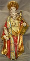 Saint Paul, hand painted and hand crafted ceramic, 15.5