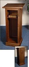 Full Lectern with Shelf, 44-3/4