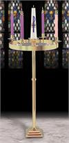 Solid Brass Floor Advent Wreath, 44