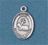"""First Reconciliation"" 1/2"" Oval Pendant Sterling, Your Choice of Chain, # 98616"