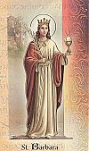 St. Barbara Folding Prayer Card, 10-pack, # 59156